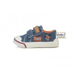 Zapatillas de lona vaquera para niño con dos velcros de D.D. Step