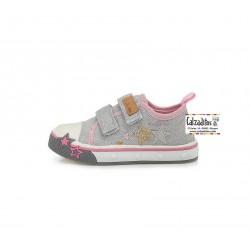 Zapatillas de loneta vaquera para niña con dos velcros de D.D. Step