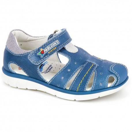 Sandalias deportivas de Pablosky en piel vacuna con velcro para niño