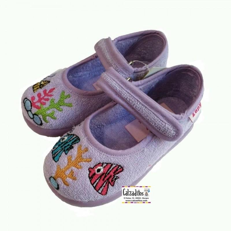 Zapatillas de rizo para estar en casa para ni a - Zapatillas de estar en casa de nina ...
