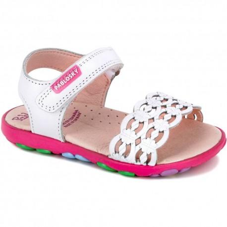 Sandalias para niña de Pablosky con suela de goma de sport con flores