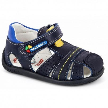 Sandalias de piel para niño primeros pasos, de Pablosky