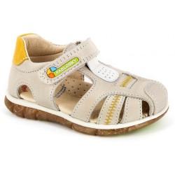 Sandalias de piel tipo cangrejera para niño, de Pablosky