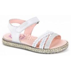 Sandalias para niña de piel con velcro de Pablosky