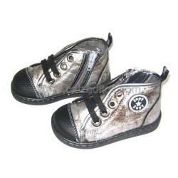 Botas de cordones de color plata envejecida, de Zapy