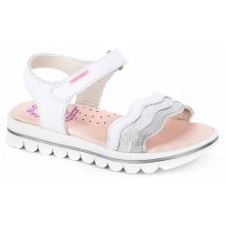 Sandalias de niña con plataforma con ondas de Pablosky Girls