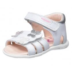 Sandalias para niña bebé con talonera y velcro de Pablosky