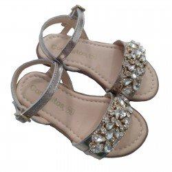 Sandalias de piel para niña con abalorios de Conguitos