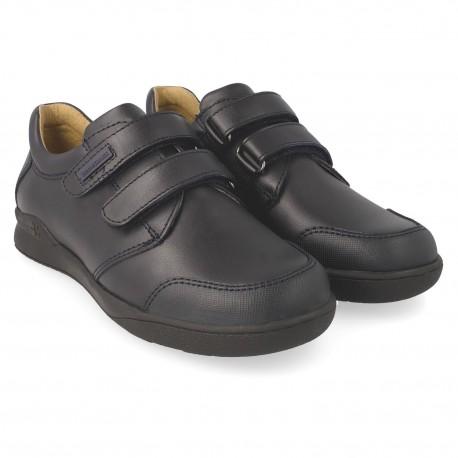 Zapatos colegiales Biomecanics con dos velcros para niño