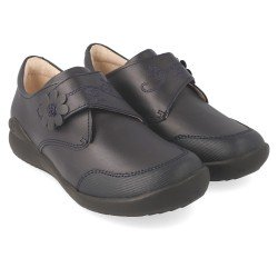 Zapatos colegiales Biomecanics cerrados con velcro para niña