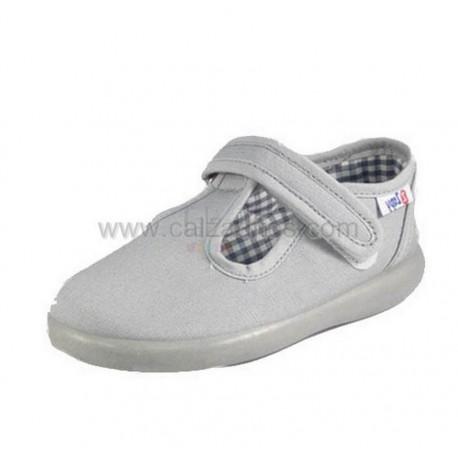 Zapatos de lona grises (pepitos) para niño de Zapy