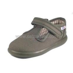 Zapatos de lona kakis (pepitos) para niño, de Zapy