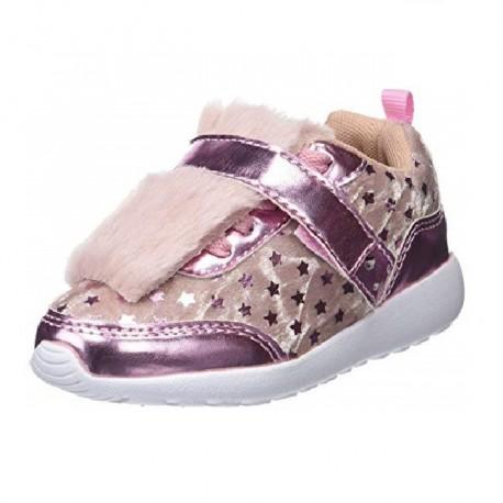Zapatillas de terciopelo con luces para niña de Conguitos