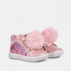 Botitas para niña glitter con pompón de Osito by Conguitos