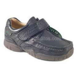 Zapatos naúticos de piel azul marino, de Gorila
