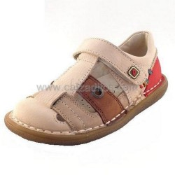 Sandalias de piel cerradas para niño, de Garvalín