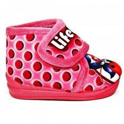 Zapatillas de estar en casa para niña de Lady Bug marca Moranchel