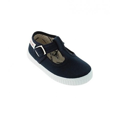 Zapatillas de lona tipo pepito en color azul marino, de Victoria