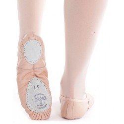 Zapatillas de ballet en piel con suela partida de Topise