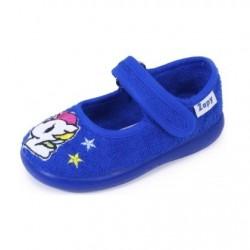 Zapatillas de estar en casa para niña con velcro de Zapy