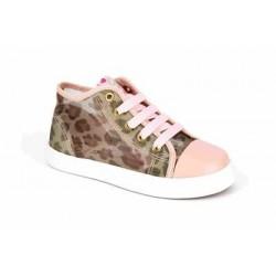Botas de verano de rejilla con estampado de leopardo, de Pablosky