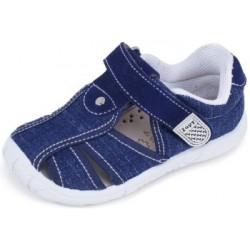 Sandalias de lona vaquera azul acolchadas con velcro, de Lonettes Zapy for kids