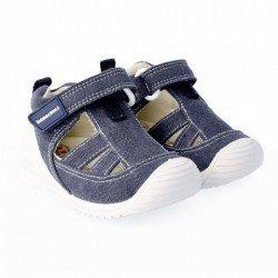 Sandalias de lona vaquera para niño o niña, de Biomecanics de Garvalín