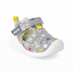 Sandalias de loneta para niña de Biomecanics de Garvalín