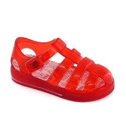 Sandalias de agua/cangrejeras en rojo, de Pablosky