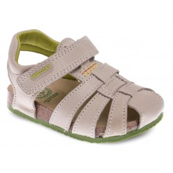 Sandalias de piel tipo bio para niño de Pablosky