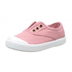 Zapatillas de lona en color rosa, de Victoria