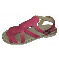 Sandalias para niña en color coral de Nens