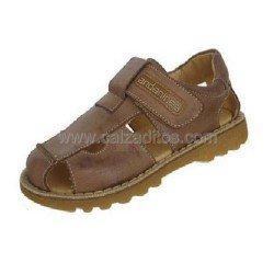 Sandalias cerradas de piel para niño con velcro, de Andanines