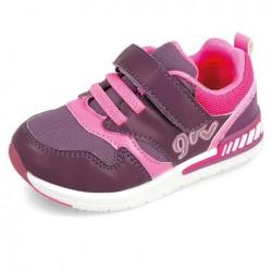 Deportivas para niña de nylon morado y rosa de Garvalín