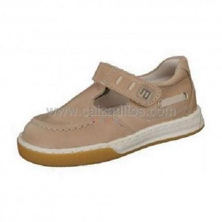 Zapatos beiges oscuro de piel Andanines (pepitos)