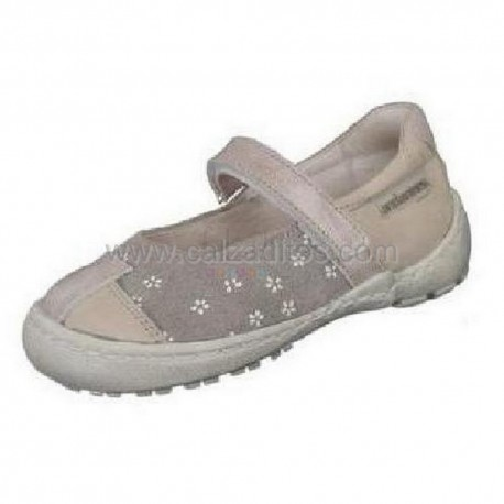 Merceditas Zapatos Queen gris claro de piel, de Andanines