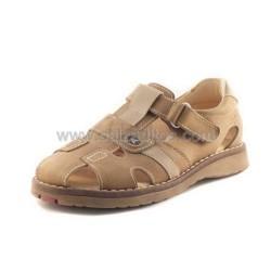 Sandalias de niño en piel marrón-beiges, de Andanines