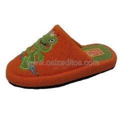 Zapatillas de estar en casa de toalla naranjas de Andinas