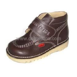 Botas halley de piel marrón, de Andanines (G). Tipo Kickers