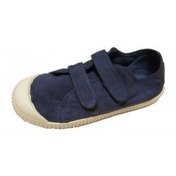 Zapatillas de lona jeans con efecto deslavado y doble velcro, de Lonettes Zapy