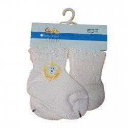 Pack de dos pares de calcetines de bebé de Punto Blanco