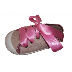 Zapatillas tipo inglesinas con brillantina, de Lonettes Zapy