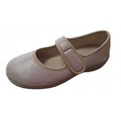 Mercedes para señora en textil beige con escamas plateadas de Berevëre