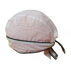 Bandana de tela con solapa y lazada de Arteval