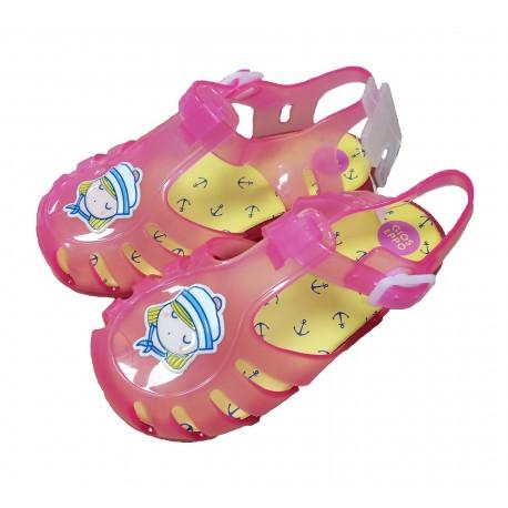 Zuecos de goma rosas, de Gioseppo Kids