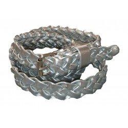 Cinturón trenzado plateado para niña de Vaello