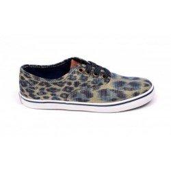 Zapatillas con cordones de lona leopardo de Gioseppo