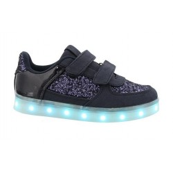 Deportivas con luces led en color azul marino, de Chika 10 Kids