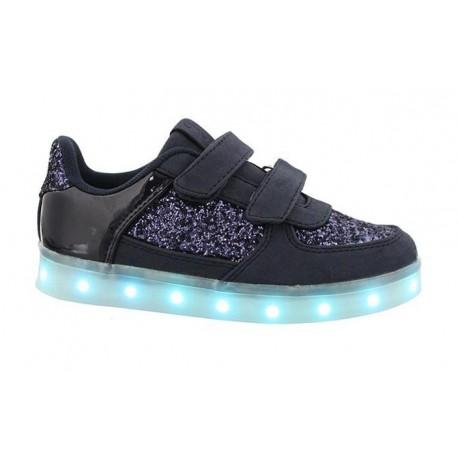 Deportivas con luces led en color azul marino, de Chika 10 Kids