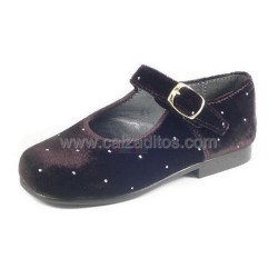 Zapatos de niña de terciopelo marrón, de Eli